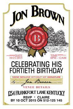 21st Birthday Invitations 30th 40th 50th Adults Invitation