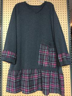 RESERVED Upcycled plus size shabby chic v-neck sweater Tunic