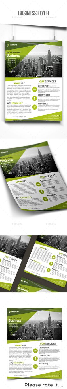 Business Flyer Template PSD #design Download: http://graphicriver.net/item/business-flyer/13316986?ref=ksioks