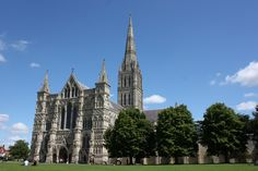 Salisbury cathedral, England, August 2009