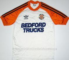 Luton Town 1983 replica issue home shirt. Classic Football Shirts, Vintage Football Shirts, Retro Shirts, Vintage Shirts, Football Kits, Football Jerseys, Luton Town Fc, Vespa, Soccer