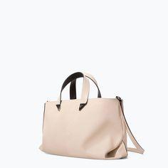 ZARA - TRF - WHITE TOTE BAG