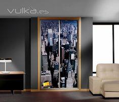 DECORACION FACIL: DECORAR CON VINILOS LOS ARMARIOS Wall Decor, Curtains, Furniture, Home Decor, Model, Built In Robes, Home Decoration, Houses, Studio