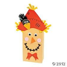 Paper Bag Scarecrows for Fall