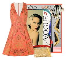 """""""Orange"""" by archsan ❤ liked on Polyvore featuring Alice + Olivia, Charlotte Olympia, Yves Saint Laurent, By Terry, Beauty Is Life, Kassatex, NARS Cosmetics and dreamydresses"""