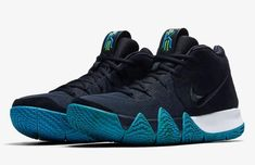 648a0589c54347 Nike Kyrie 4 IV Think Twice Dark Obsidian Navy Black Irving Celtics 943806  401