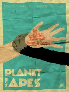 Planet of the Apes (1968) ~ Minimal Movie Poster by Matheus Candido #amusementphile