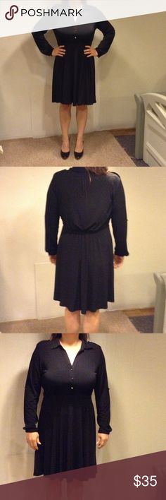 Black Dress NWOT New without tags! Bought to wear to an event and found another outfit last minute. Sharp, classic dress for any occasion. NY Collection Dresses Long Sleeve