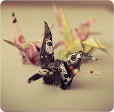 Origami - Não conheço essa variação de Tsuru.