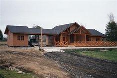 fachada de cabaña grande Concept Home, Ideas Para, Sweet Home, 1, House Design, Patio, House Styles, Outdoor, Home Decor