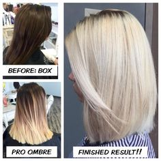 """Allyson Destout (@allydestouttt) of Soleil La Vie,Kettering, Ohio, says that this longtime client """"had box dyed her hair a few months ago, to gradually take her back to icy blonde."""" Here Destout shares the details for their journey to the client's desired end result. First step was an ombre:"""