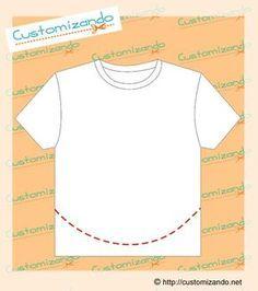 cortes de customização de camiseta Sewing Hacks, Sewing Crafts, Sewing Projects, Shirt Refashion, T Shirt Diy, Diy Clothing, Sewing Clothes, Cut Tee Shirts, Merian