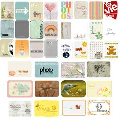 Free mix of journal cards {French} from eight different designers
