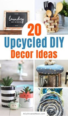 Reuse, Upcycle, Repurposed, Diy Projects, Creative, How To Make, Home Decor, Upcycling, Upcycled Crafts