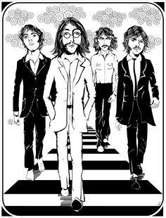 The Beatles, music, musica, ilustração, poster, vetor, urban arts, illustration, vector, draw