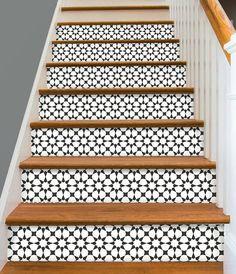 Stair Riser Vinyl Strips 15 steps Removable Sticker Peel & Stick : Bx302