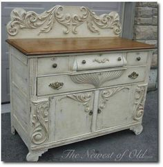 Painted old buffet furniture piece?