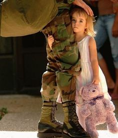Painful, endearing moment. Our military families sacrifice so much in name of our country...in the name of our freedom.