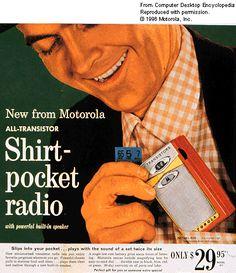 """New from Motorola...Shirt Pocket Radio!"""