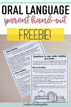 I share 9 simple questions that will promote oral language development in kindergarten. Use these questions with any book during a read-aloud. This parent hand-out freebie is perfect to send home… Speech Therapy Activities, Speech Language Pathology, Language Activities, Speech And Language, Baby Language, Language Development, School Psychology, Parent Resources, Education Quotes
