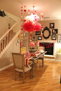 Perfect decor for a Valentine's Day themed baby shower! I want a vday baby!! Lol