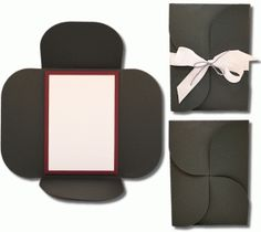 rectangle petal card invitation set