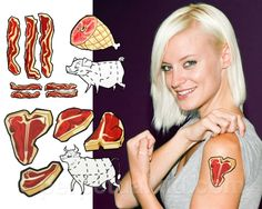 MEAT TEMPORARY TATTOOS