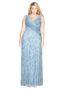 Embroidered wrap evening dress by Ariella. Shop now: http://www.navabi.us/dresses-ariella-embroidered-wrap-evening-dress-light-blue-30999-1600.html?utm_source=pinterest&utm_medium=social-media&utm_campaign=pin-it