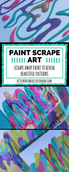 Paint scrape art doesn't take much in the way of materials. This process can be as basic or sophisticated as you want it to. This activity is for everyone!