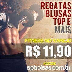 Limpa estoque Moda fitness apenas R$ 11,90 qualquer peça, qualquer quantidade. Acesse: http://www.spbolsas.com.br e faça o seu pedido. Entregamos em todo o Brasil.   #moda #fitness #atacado #varejo #comprar #loja #online #site #roupas #regatas #blusas #camisetas #tops #femininas #acadêmia #treino #exercícios #nopain #nogain