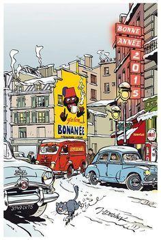 Blended with Superimpose Comic Books Art, Comic Art, Illustration Française, Superman, Batman, Ligne Claire, Porsche 914, Bd Comics, Comic Drawing