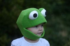 Oh Good LORD that is CUTE! Frog Mask Child Size Small Medium and Large by JustZipity on Etsy, $40.00