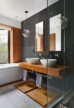 Minimalist style is one of latest trends in bathroom design that calls for elegant simplicity and functionality