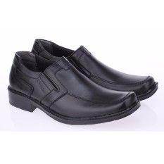 Sepatu Kerja Formal Pantofel Pria Raindoz Rbn 003 Hitam Kulit