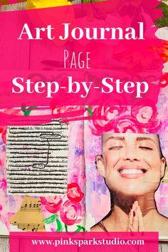 Art Journal Pages, Art Journals, Junk Journal, Bullet Journal, Moleskine, Found Poetry, Art Journal Inspiration, Journal Ideas, Art Journal Tutorial