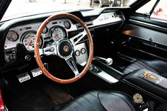 Interior of the 1967 Shelby GT500CR by Creative Recreations.