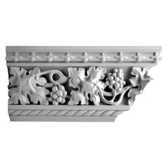 "8""(H) x 3-5/8""(Proj.) - Gothic Style Crown Molding Design - [Plaster Material]"