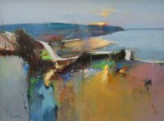 Official website of Peter Wileman PPROI RSMA FRSA, Seascape/Landscape artist. Seeking atmosphere with light and colour in varying degrees of abstraction. Impressionist Landscape, Abstract Landscape Painting, Impressionism Art, Seascape Paintings, Artist Painting, Landscape Art, Landscape Paintings, Landscapes, Abstract Geometric Art