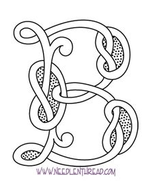 Monogram for Hand Embroidery: Celtic B - I want to find a way to work this into one of the celtic designs for the monogram