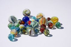Marbles like these, collected them just for their beauty.