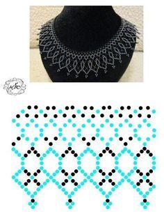Pin on Schmuck Diy Necklace Patterns, Beaded Jewelry Patterns, Beading Patterns, Bead Jewellery, Seed Bead Jewelry, Jewelry Making Beads, Jewelry Necklaces, Bead Loom Bracelets, Beading Tutorials