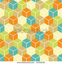 Abstract seamless geometric pattern.vector illustration