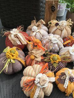 Fabric Pumpkins, Fall Pumpkins, Autumn Crafts, Holiday Crafts, Halloween Crafts, Halloween Decorations, Dollar Tree Pumpkins, Pumpkin Pictures, Fall Sewing