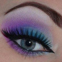 Blue and purple eyeshadow