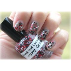 Harley Quinn- Nail Polish (330 PHP) found on Polyvore