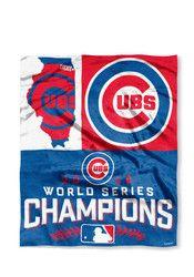 12b2958a55252 Chicago Cubs 2016 World Series Champions 50x60 Quest Silk Touch Raschel  Blanket World Series 2016