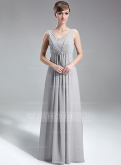 Holiday Dresses - $129.99 - A-Line/Princess V-neck Floor-Length Chiffon Holiday Dress With Ruffle Beading Sequins (020039557) http://jjshouse.com/A-Line-Princess-V-Neck-Floor-Length-Chiffon-Holiday-Dress-With-Ruffle-Beading-Sequins-020039557-g39557
