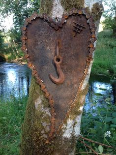 Kathi's Garden Art Rust-n-Stuff: Rusty Heart Art Metal Yard Art, Scrap Metal Art, Metal Art Projects, Metal Crafts, Welding Projects, Art Crafts, Woodworking Projects, Objet Deco Design, Sculpture Metal