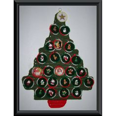 Christmas Tree Countdown - A free Crochet pattern from jpfun.com.