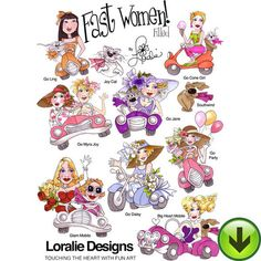 Fast Women Filled Embroidery Design Collection | DOWNLOAD